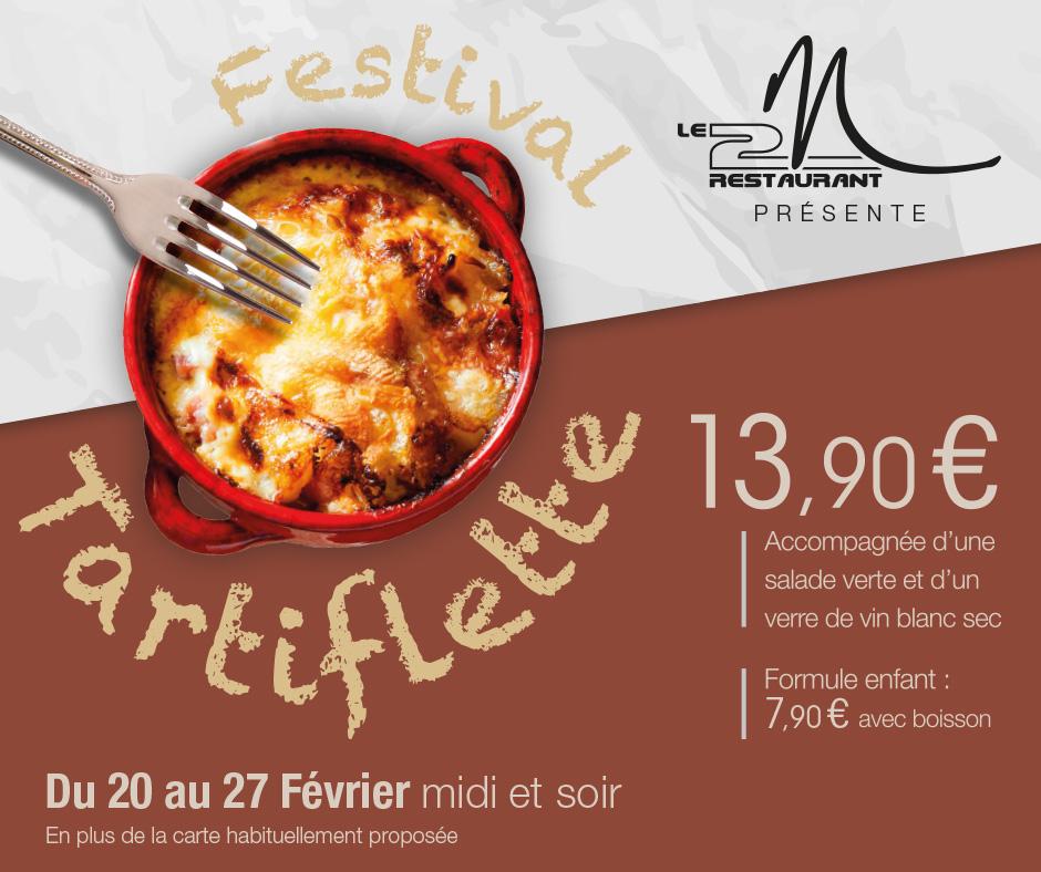 festival tartiflette au 2m restaurant à château gontier