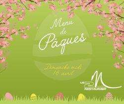 Menu Pâques - Dimanche 16 Avril
